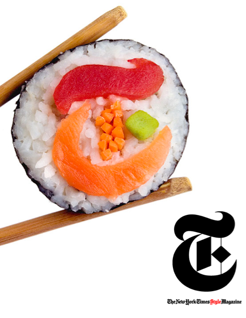 NYTimes T Magazine sushi by Kevin Van Aelst