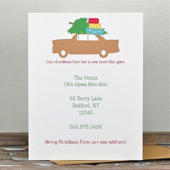 Image Result For New Address Christmas Cards Christmas Pinterest
