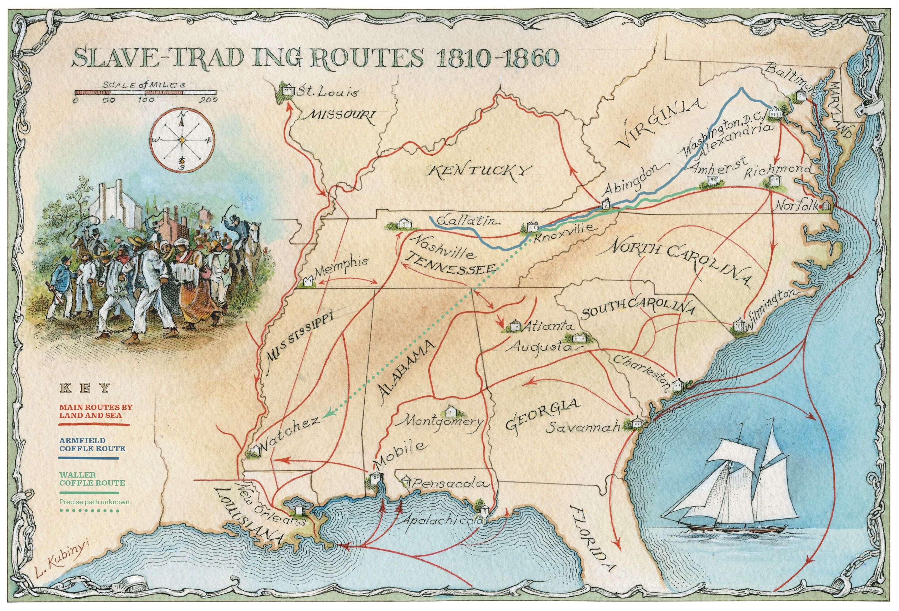 Retracing Slavery's Trail of Tears | History | Trail of