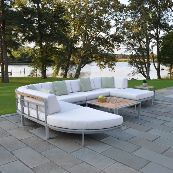 Kingsley Bate: Elegant Outdoor Furniture. Naples Sectional. Frames  Constructed From Aluminum With