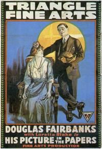 Theatrical poster for the 1916 silent film His Picture in the Papers.