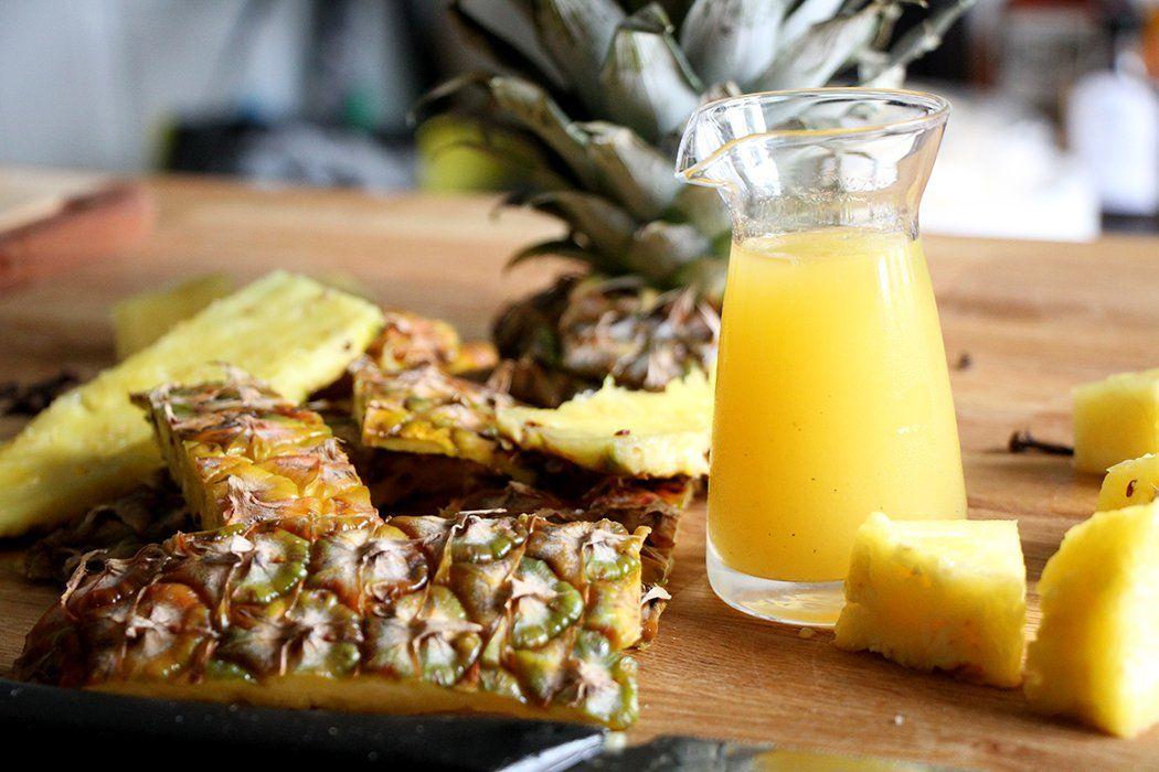 DIY Tepache (fermented pineapple juice drink)