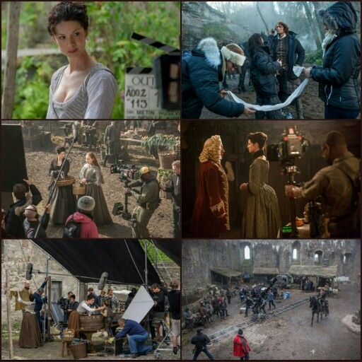 BTS pics from upcoming episodes of Outlander!