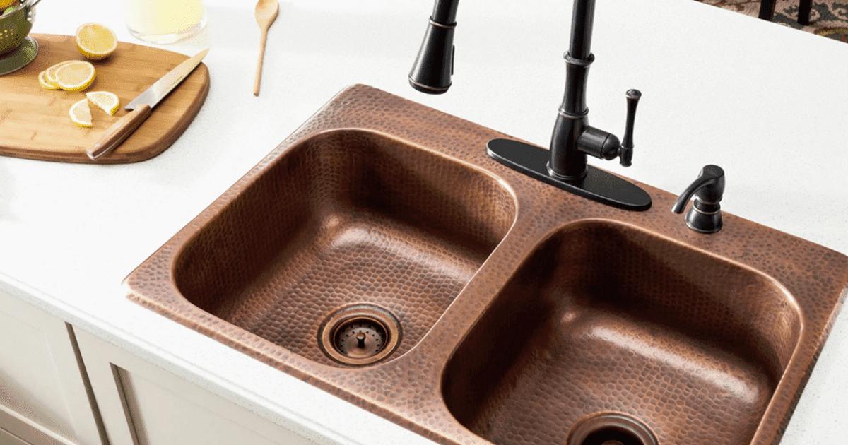 32 Maintain And Decorate The Copper Farmhouse Sink Peralatan Dapur Dapur