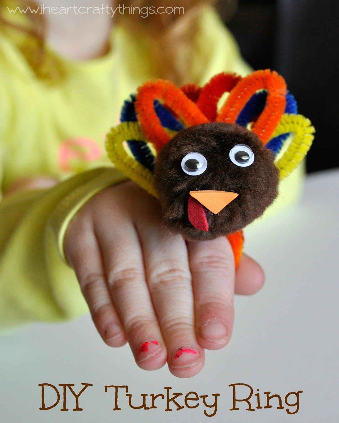 DIY Turkey Ring for Kids Thanksgiving crafts