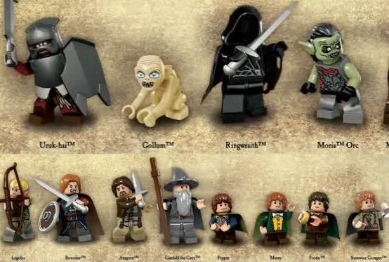 lord of the rings legos gollum