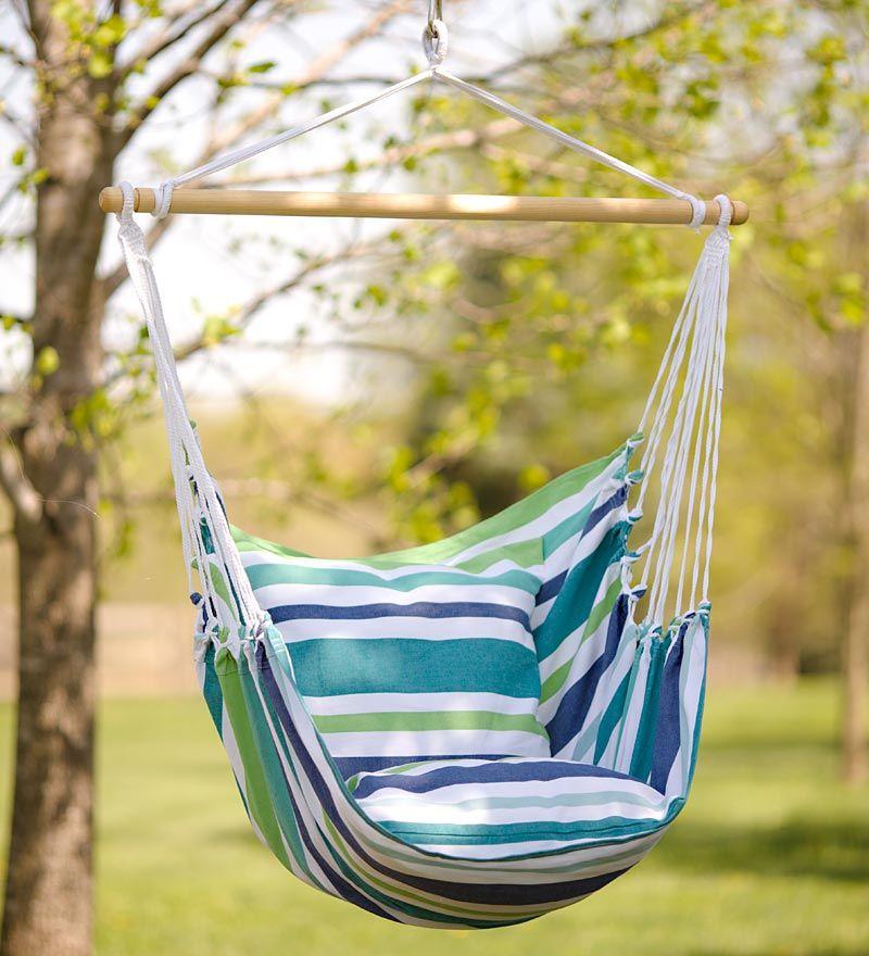 blue striped cotton hammock chair swing blue striped cotton hammock chair swing   outdoor   pinterest      rh   pinterest