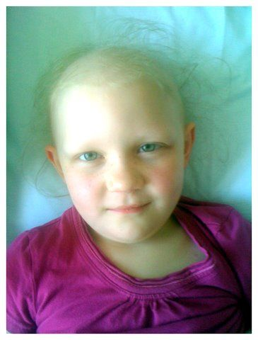 Zoe, 6.  Zoe was diagnosed with t-cell ALL on Sept. 7, 2010 when she was 5.    Shared by Jen Baggett-Pramuk.