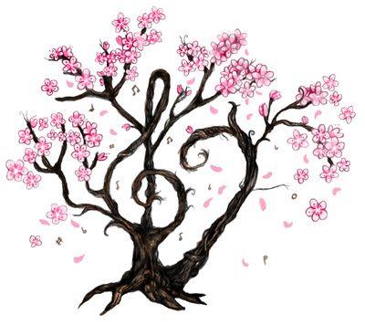 Cherry Blossom Tree Clip Art Sakura Tree Cherry Blossom Tree Blossom Trees Sakura Tree