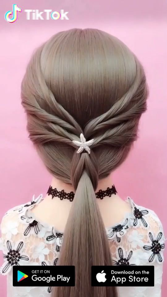 Super Easy To Try A New Hairstyle Download Tiktok Today To Find More Amazing Videos Also You Can Post Videos To Show Hair Styles Hair Videos Hair Tutorial