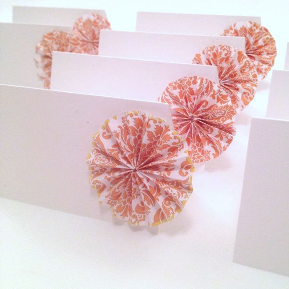 origami place cards wedding escort cards paper by