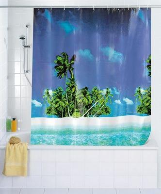 Duschvorhang Strand Palmen Sudsee Duschvorhang Dusche Design