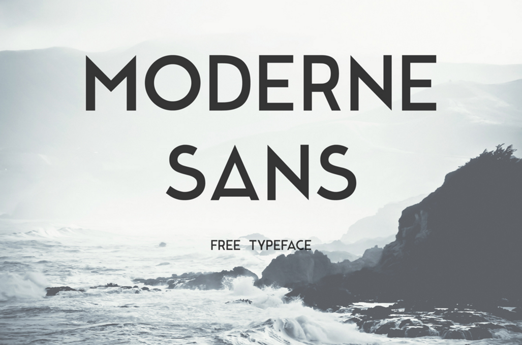 Moderne Sans Is A Free Font Inspired By 1920s Typography This Typeface Based On Upper Case Letters But I Created Lower Numbers And Some
