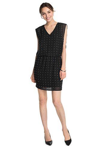 Esprit - Fließendes Chiffon-Kleid mit Strass im Online Shop kaufen ... ea8a4734ab