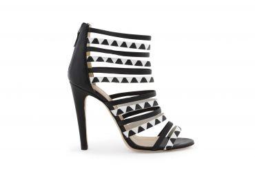 GALATEA ZIG ZAG - Multi strap #sandal with geometrical print.