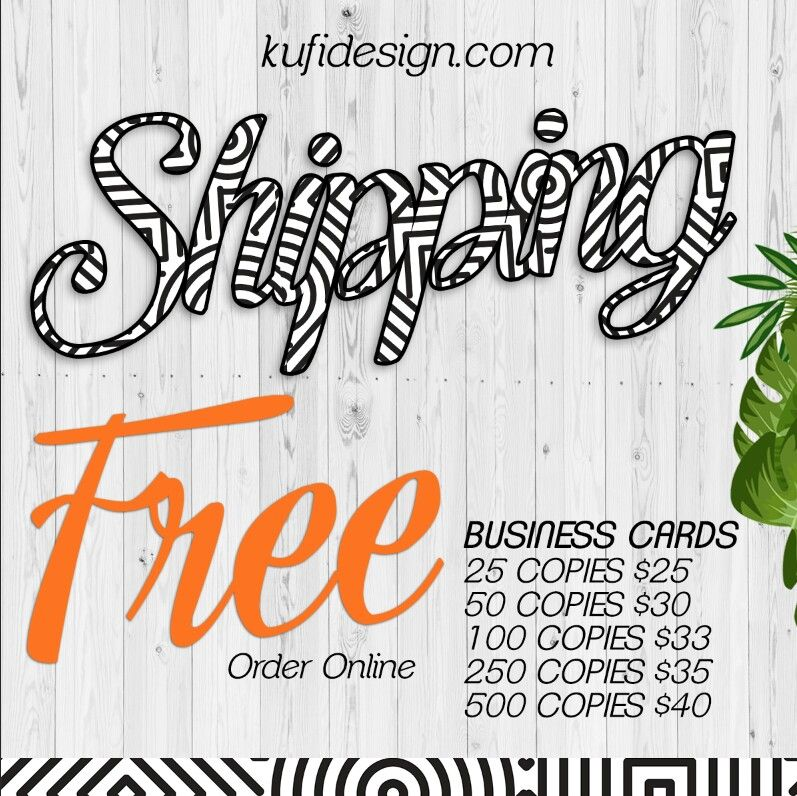 Free shipping business cards Email zuly@kufidesign.com to order ...