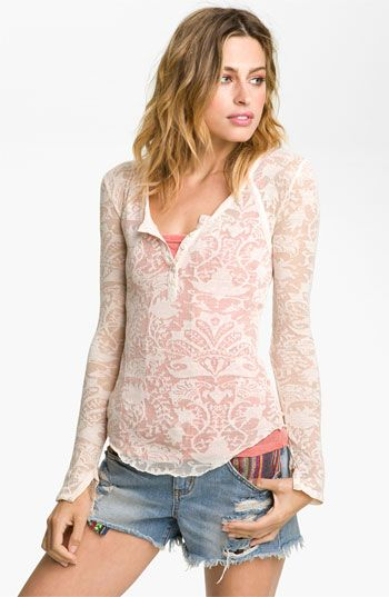Free People Henley and cut offs