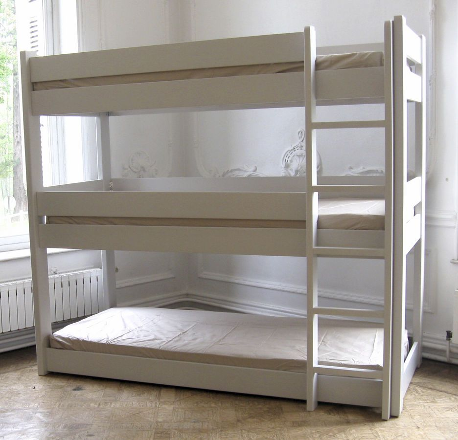 Triple bunk beds for teenagers - Kids Triple Bunk Bed Pack Em Like Sardines I M Sure