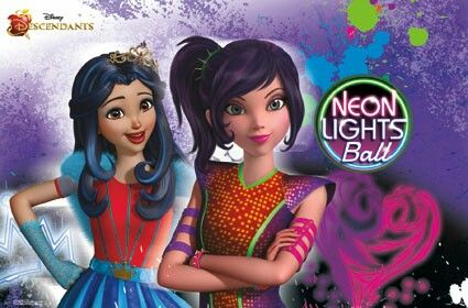 Mal And Evie At The Neon Lights Ball Descendants