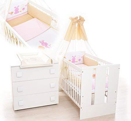 "13Tlg. Kinderzimmer Babyzimmer ""Hase"" Wickelkommode"