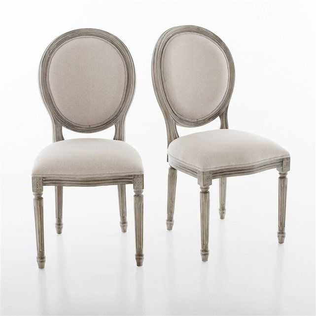 Chaise Mdaillon Style Louis XVI Lot De 2 Nottingham La Redoute Interieurs