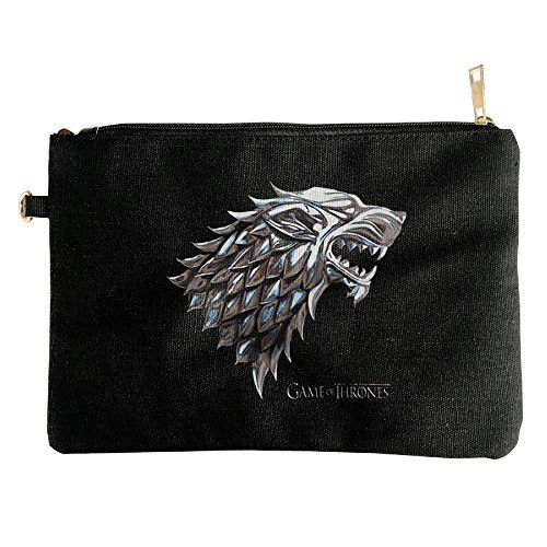 Chrome Stark House Direwolf Logo Canvas Pouch Bag -- More info could be found at the image url.