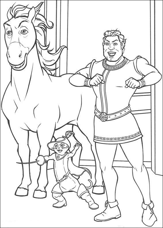 Dibujos para Colorear Shrek 74 | Sketchbook | Pinterest | Jasmine
