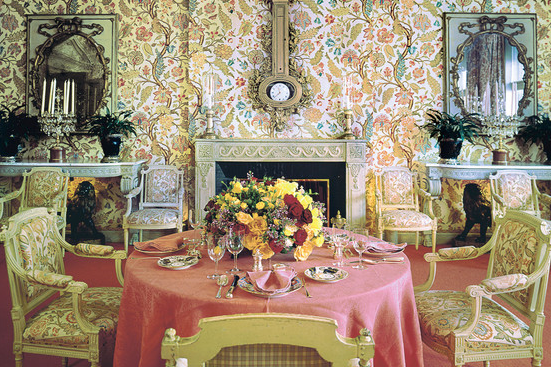 Babe Paley's New York dining room - photo  John M. Hall
