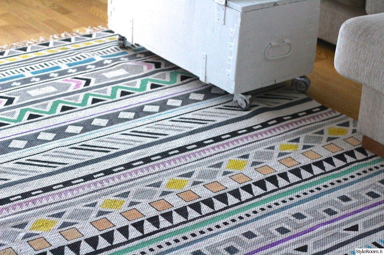 tytDiy painoi itselleen värikkään Kelim-maton. #matto #diy #kodinsisustus