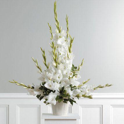 Red Gladiolus Floral Arrangements For Church Altar Altar Arrangement White Flower Arrangements Tall Flower Arrangements Flower Arrangements