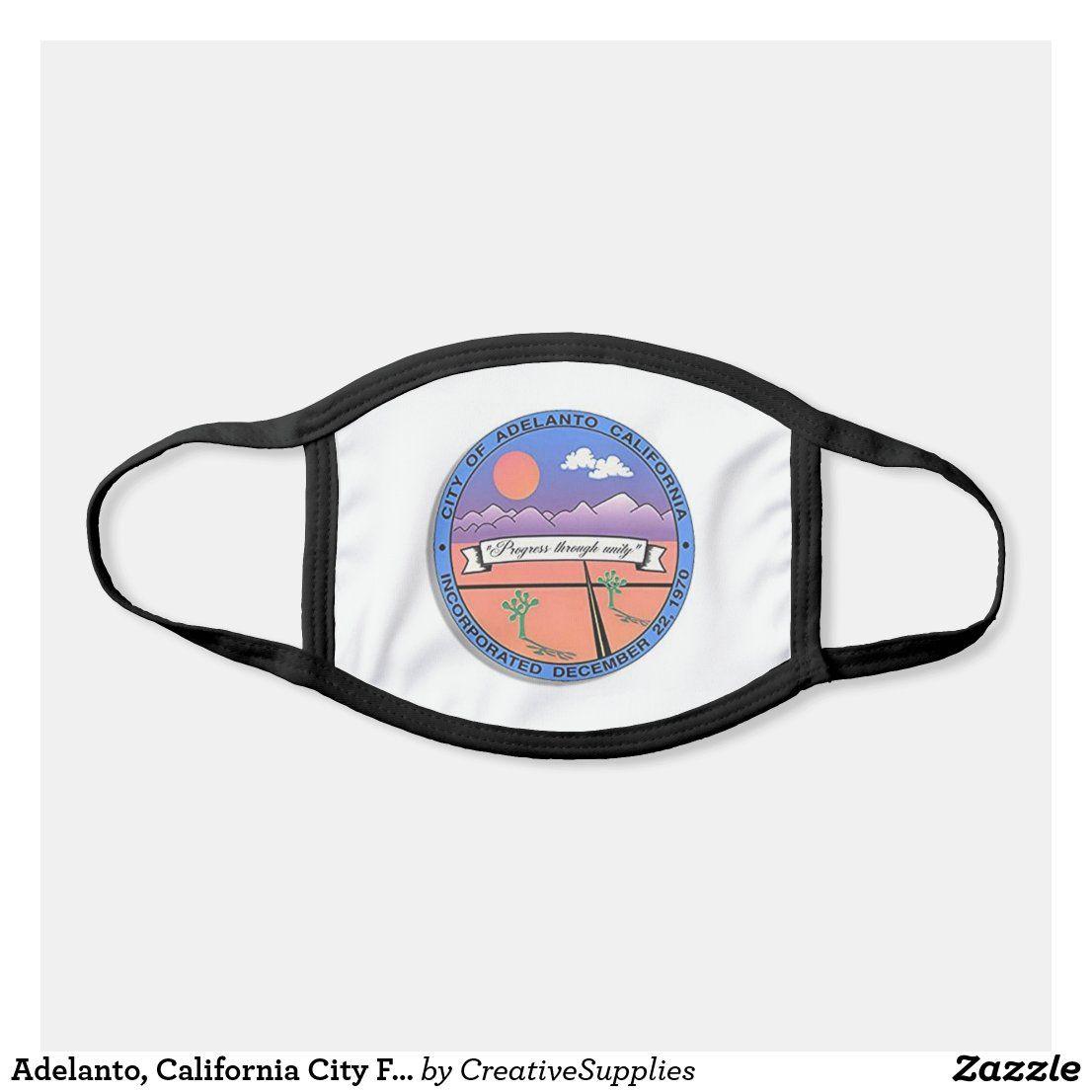 Adelanto, California City Flag Face Mask in