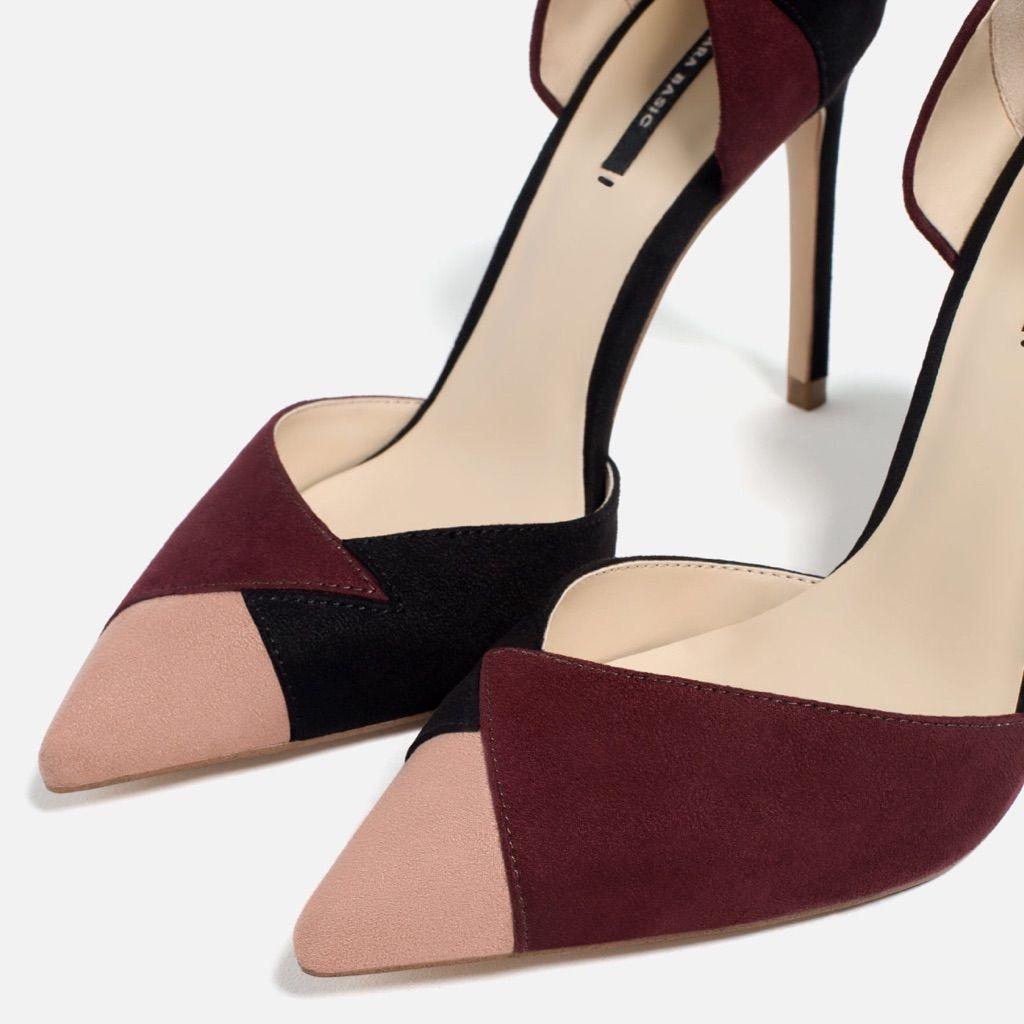 db3c8c256b4 Zara Multicolored D Orsay High Heels Mid Heel Shoes