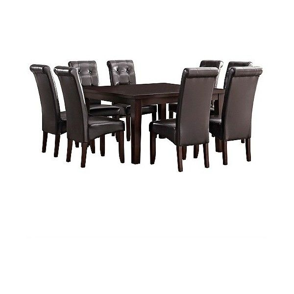 Dining Table Set: Cosmopolitan 9 Piece Dining Set   Tanners Brown   Simpli  Home Featuring