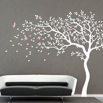 Genial White Tree Wall Decal Nursery Wall Decal Baby Girl Wall Decals Kids Room  Wallu2026