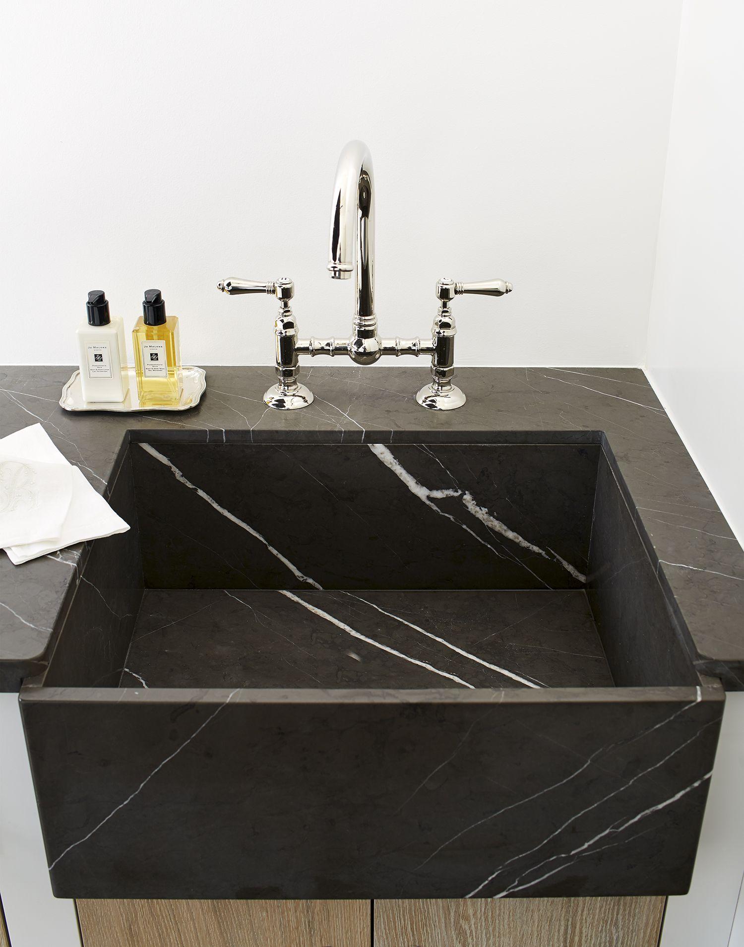 Beautiful Black Marble Sink Amy Meier Design Amazing Bathrooms Sink Design Bathroom Styling