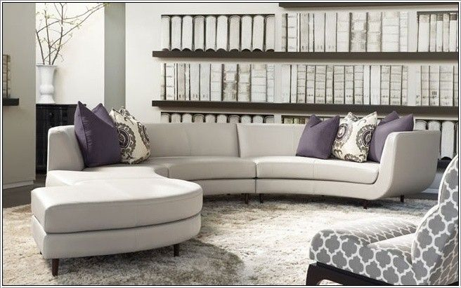 Marvelous Small Curved Sectional Sofa Couch Foter Bartlett Squirreltailoven Fun Painted Chair Ideas Images Squirreltailovenorg
