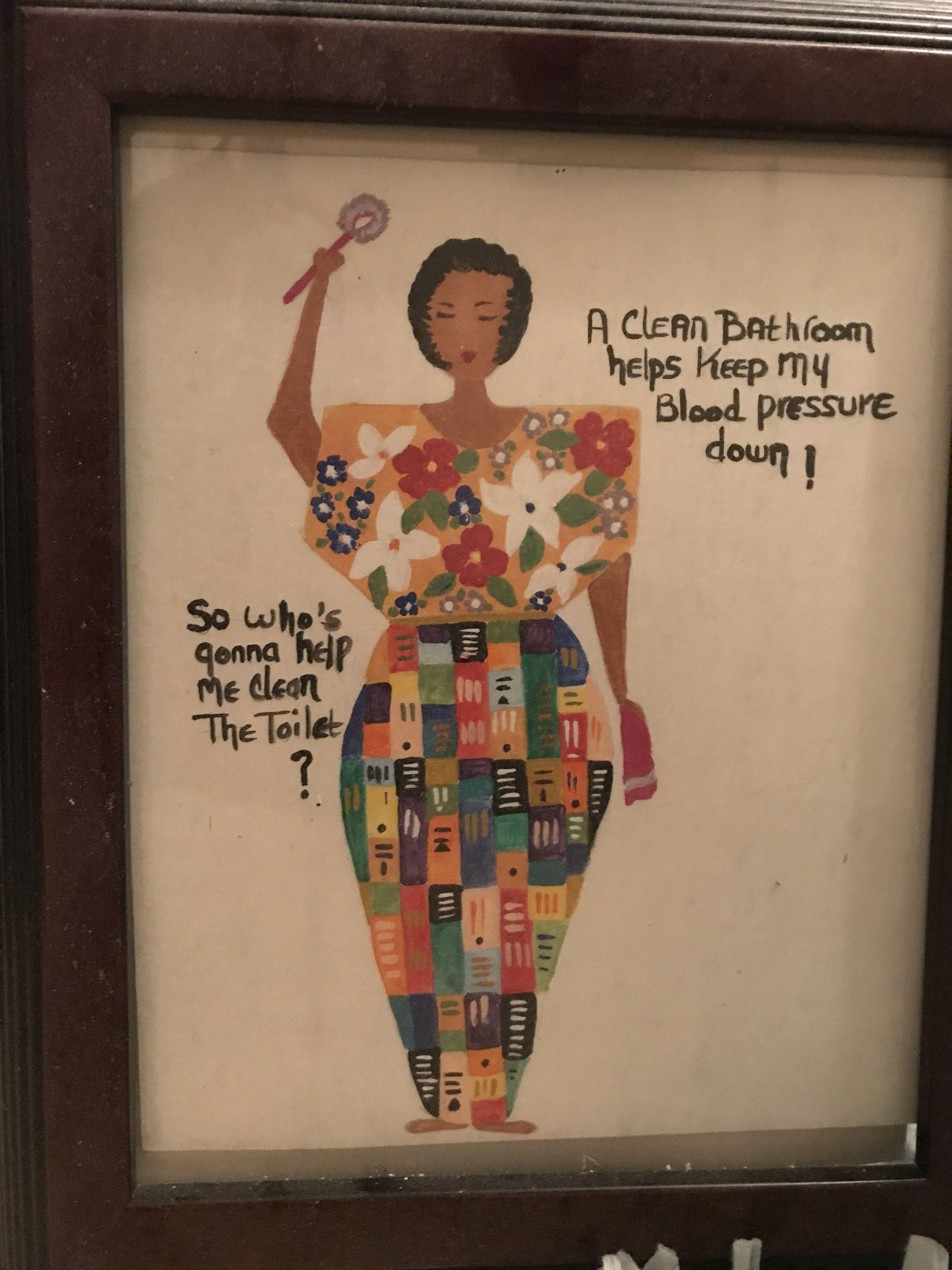 Africanamerican black art bathroom decor titled whose