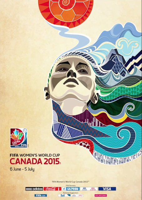 This World Cup Poster Is Absolutely Gorgeous Fifa Women S World Cup Women S World Cup World Cup