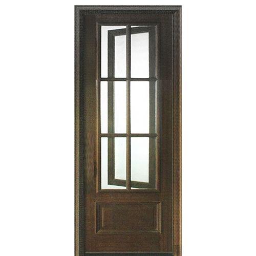 DSA Doors Breezeport TDL 6LT E 01L Breezeport 6 Lite TDL Mahogany