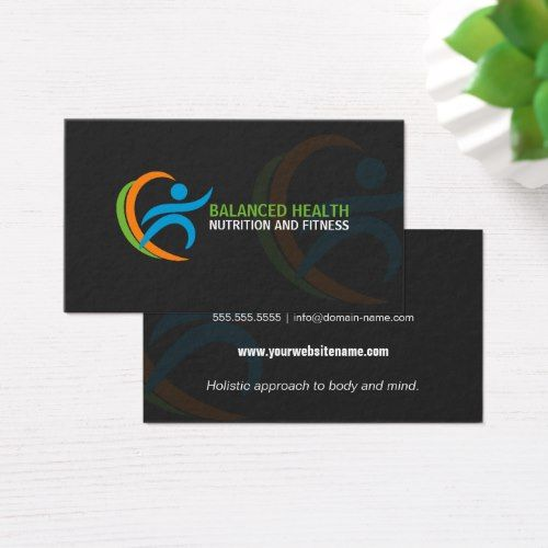 Carte De Visite Wellness And Nutrition Coach Business Card Dietitian Cards Visit