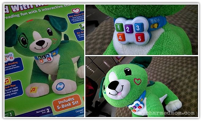 Read With Me Scout from Leapfrog is an interactive plush toy which helps children develop reading comprehension skills to get them on a path to reading.  Read more at http://mycharmedmom.com/2013/11/read-scout-leapfrog-review-readwithmescout/ #review