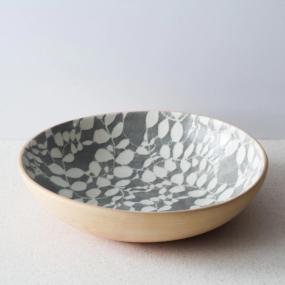 Terrafirma Ceramics Medium Serving Bowl Charcoal Ceramics Ceramic Base Ceramic Materials