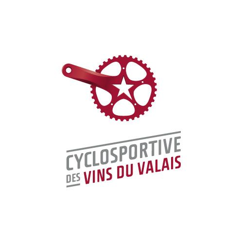 OCTANE communication | Cyclosportive des Vins du Valais #logo #branding #logotype #design
