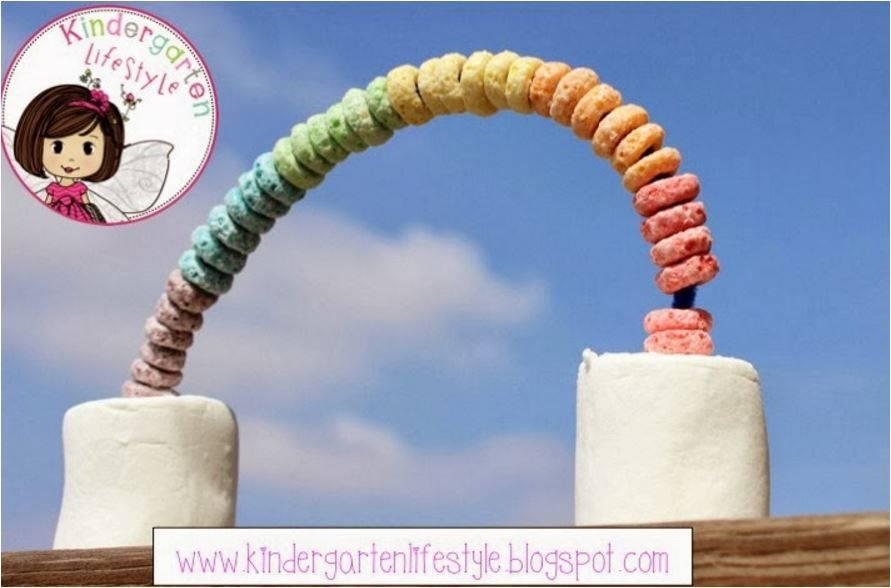 How cute would this be at a rainbow theme birthday party? Fun craft the kids can do (and eat!!)
