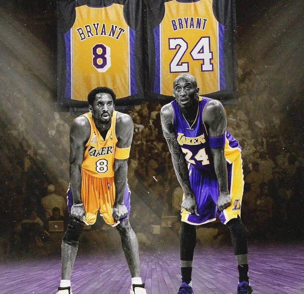 #8 #24 Kobe Bryant Los Angeles Lakers Basketball Jersey ...