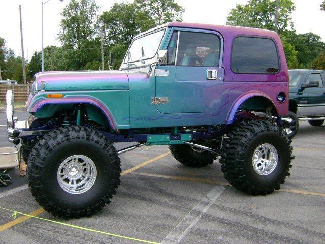 Look At This Lifted Jeep What A Paint Job Too Badass Jeep Dream Cars Jeep Jeep Cars