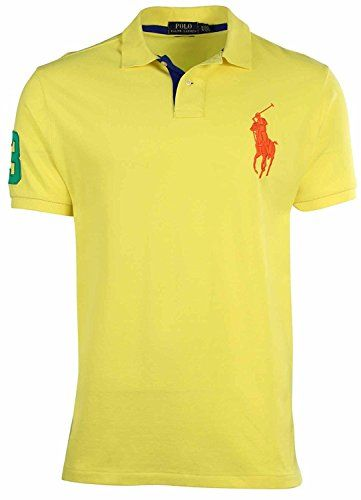 Polo Ralph Lauren Men S Big Tall Mesh Classic Fit Big Pony Polo In Optic Yellow Modesens Gucci T Shirt Mens Mens Polo T Shirts Polo Ralph Lauren