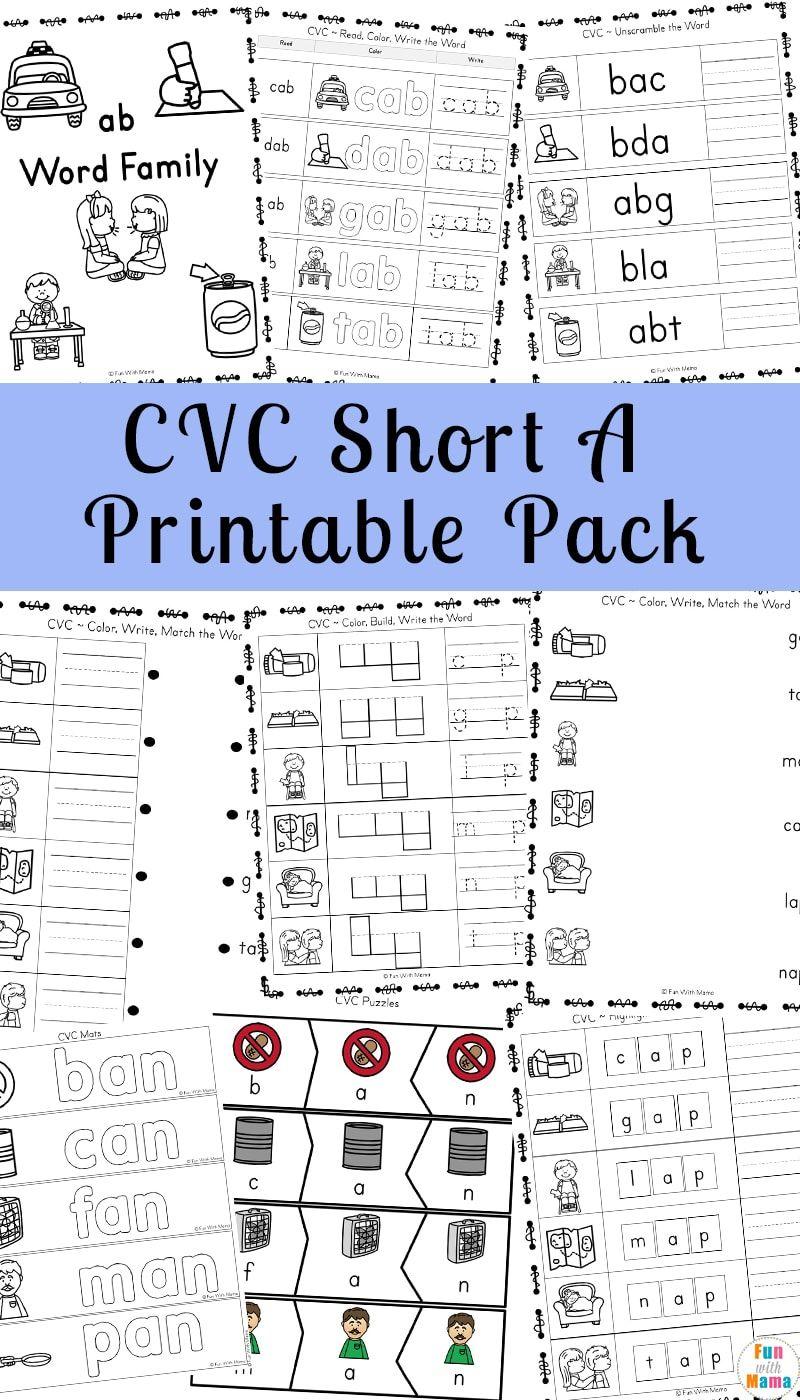 Short A Worksheets Cvc Words Worksheets Cvc Worksheets Cvc Words [ 1400 x 800 Pixel ]