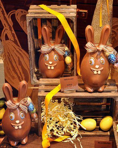 Easter Chocolates in Paris windows