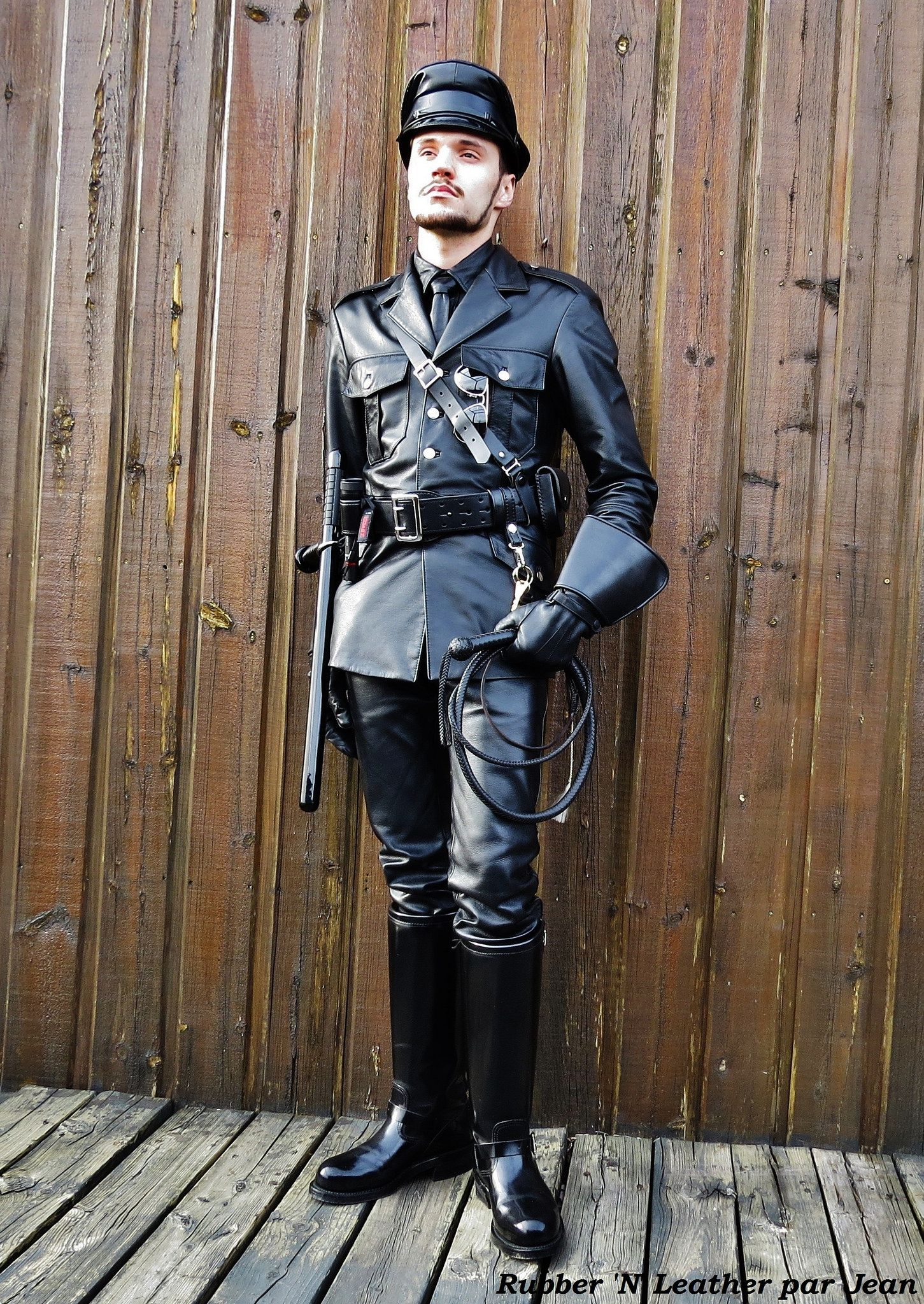 Leather Military Uniform In 2020 Mens Leather Pants Tall